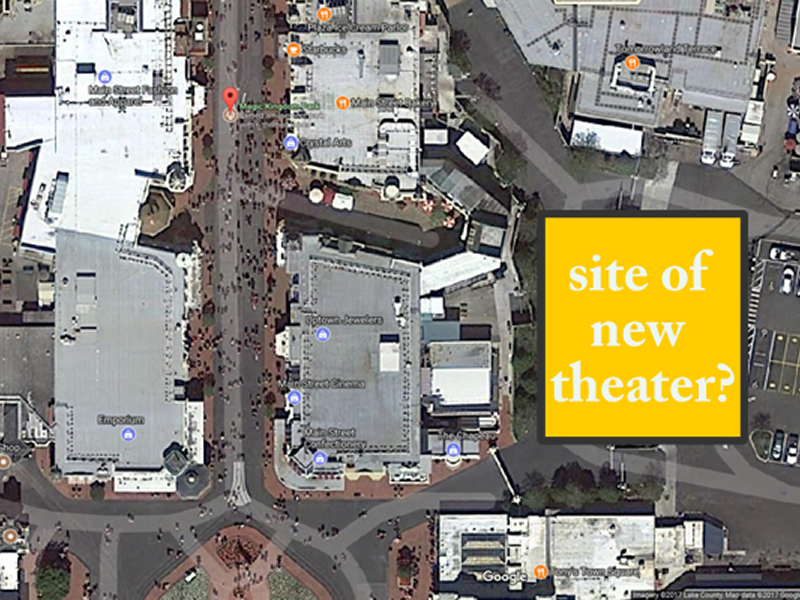 Potential location for new theater OFF Main St
