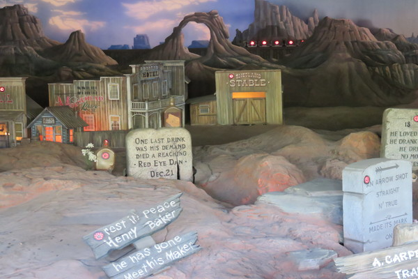 Part of Boot Hill at the Frontierland Shootin' Exposition.