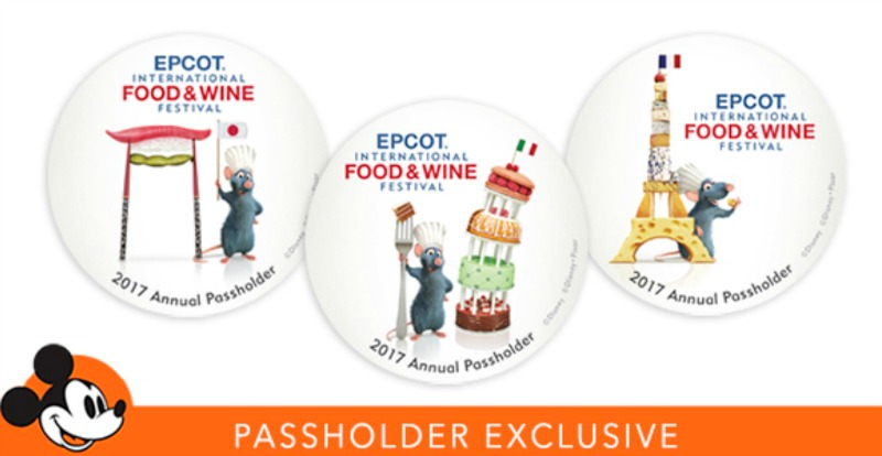 Epcot food and wine festival 2017 wdwinfo tip if youre an annual passholder dont forget to pick up your commemorative buttons from the 2017 food wine festival forumfinder Image collections