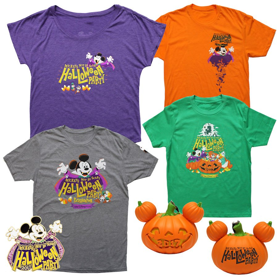 new merchandise revealed for mickey's not-so-scary halloween party 2017