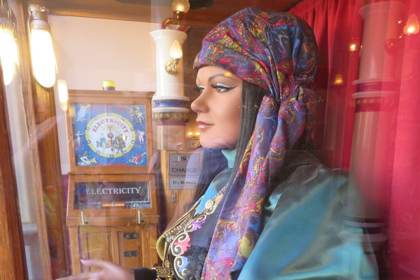 Fortune Teller Esmeralda and the Electricity game at the Penny Arcade.