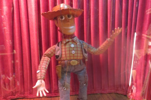 Woody marionette from Woody's Ho-Down in Frontierland.