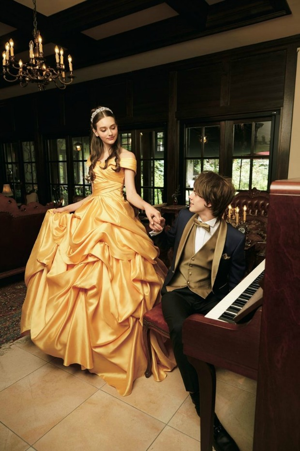 Belle Wedding Gown and Tuxedo