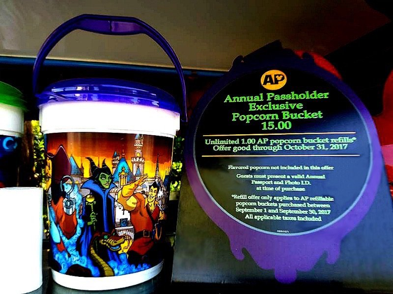 New Fall Refillable Popcorn Bucket Offer For Disneyland Annual Passholders