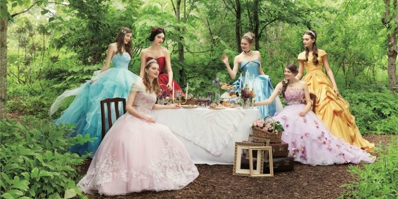 Japanese Company Introduces Disney Princess Inspired Wedding Dresses