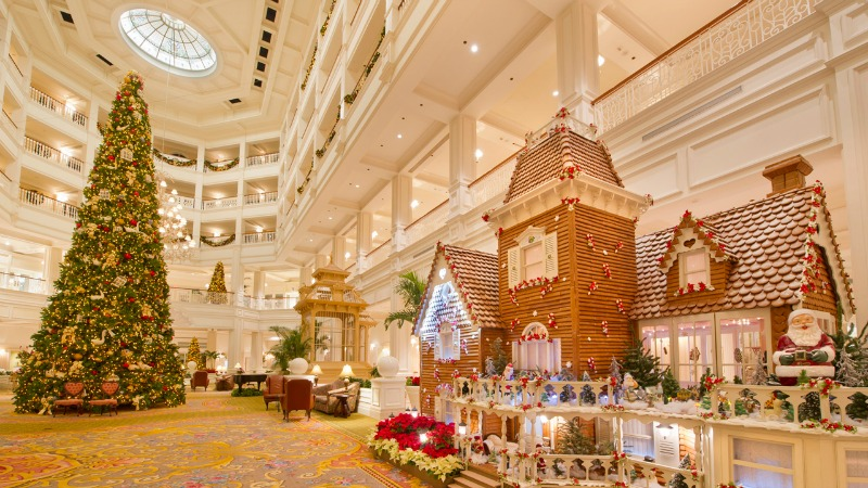 Grand Floridian Gingerbread House Lobby Tree