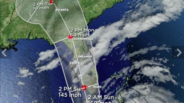 Irma Track Update 5pm Fri