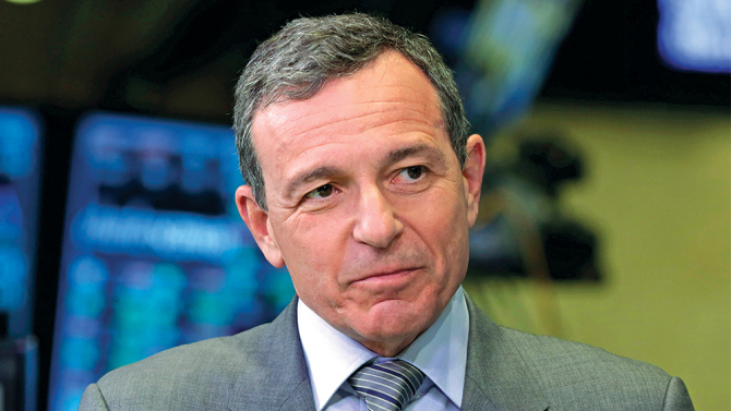 Mandatory Credit: Photo by Richard Drew/AP/REX/Shutterstock (6218555a) Bob Iger Bob Iger, chairman and CEO of The Walt Disney Company, is interviewed on the floor of the New York Stock Exchange Bob Iger, New York, USA