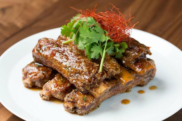 Morimoto Sticky Spare Ribs Pork ribs