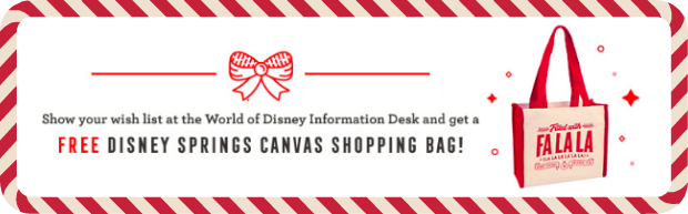 Disney Springs Canvas Tote
