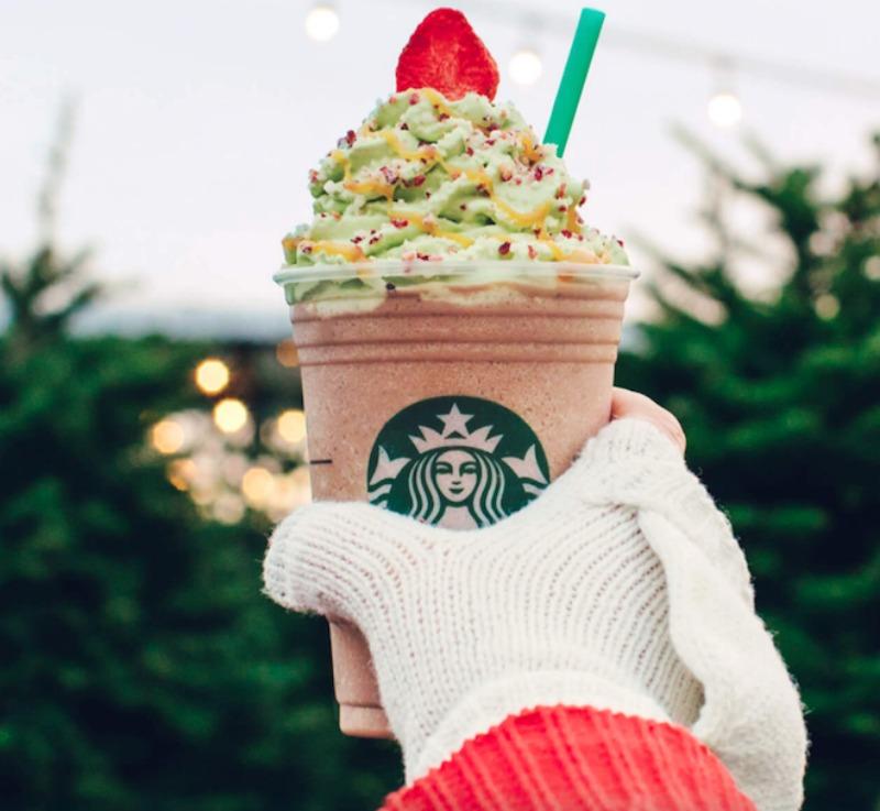 Christmas Tree Frap.Starbucks Introduces The Christmas Tree Frappuccino