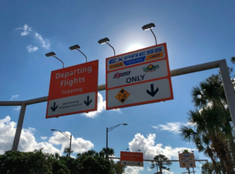 MCO Parking Signs