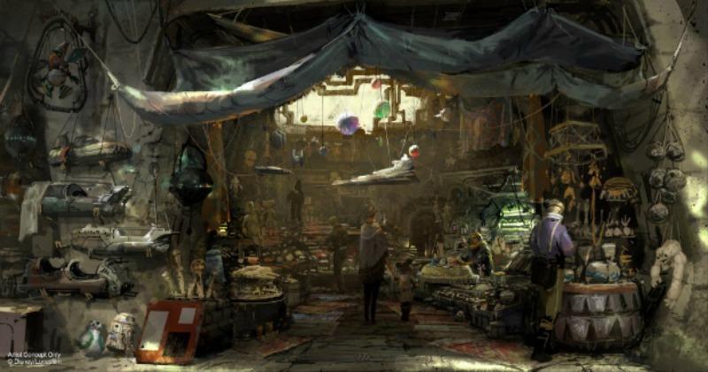 galaxy's edge toy stall