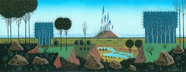 Sleeping Beauty Concept Painting c 1959 resized