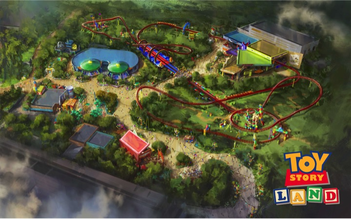Toy Story Land DHS Pixar Post