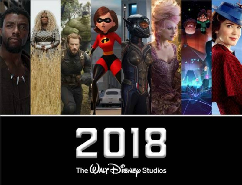 Walt Disney Studios 2018 Movie Slate