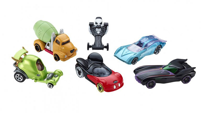 Hot Wheels Disney Character Cars New in Packaging-Various Characters