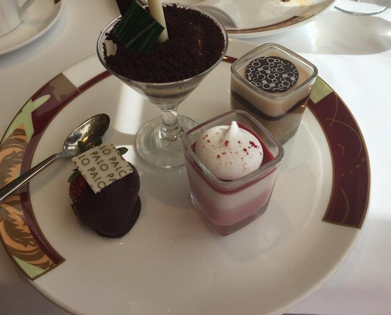 A few of the dessert selections offered while dining at Palo for brunch