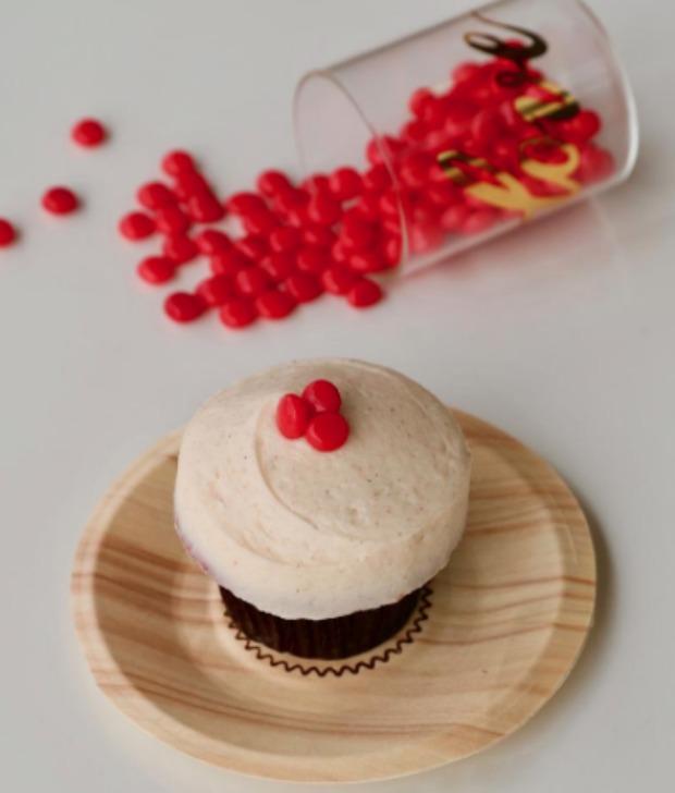 Red Hot Velvet Cupcake