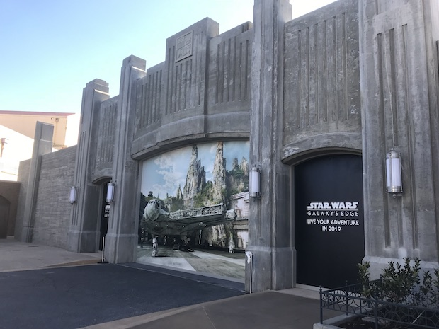 Future entrance to Star Wars: Galaxy's Edge in Hollywood Studios