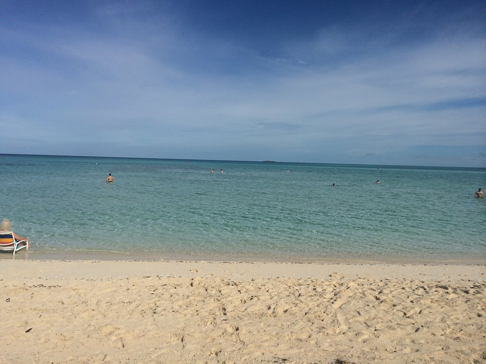 The view at Serenity Bay, the adults only beach at Castaway Cay