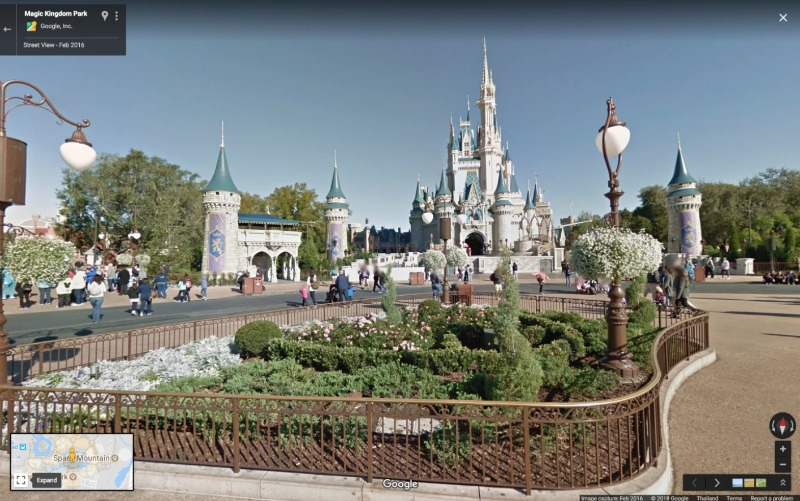 Google Street View Cinderella Castle