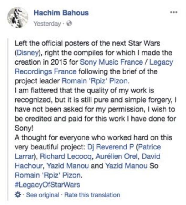Hachim Bahous FB Status