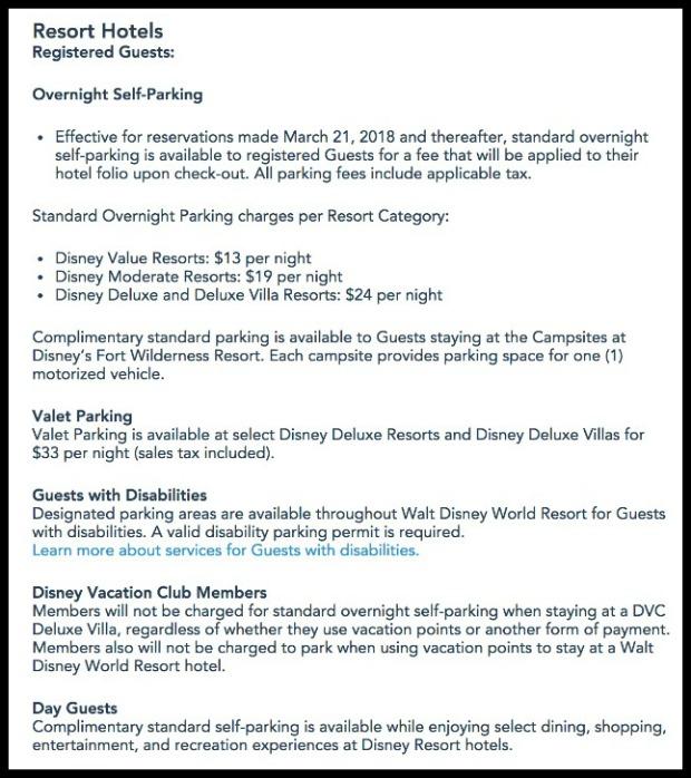 WDW New Parking Info Framed