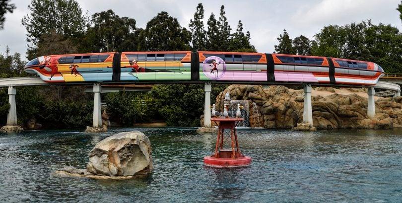 Disneyland Monorail Receives Incredible Overlay In Preparation Of Pixar Fest