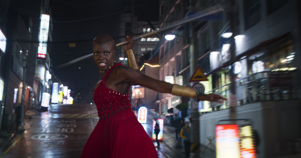 Marvel Studios' BLACK PANTHER..Okoye (Danai Gurira)..Ph: Film Frame..©Marvel Studios 2018