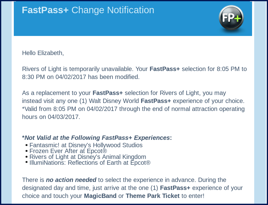 FP Change Notice with border