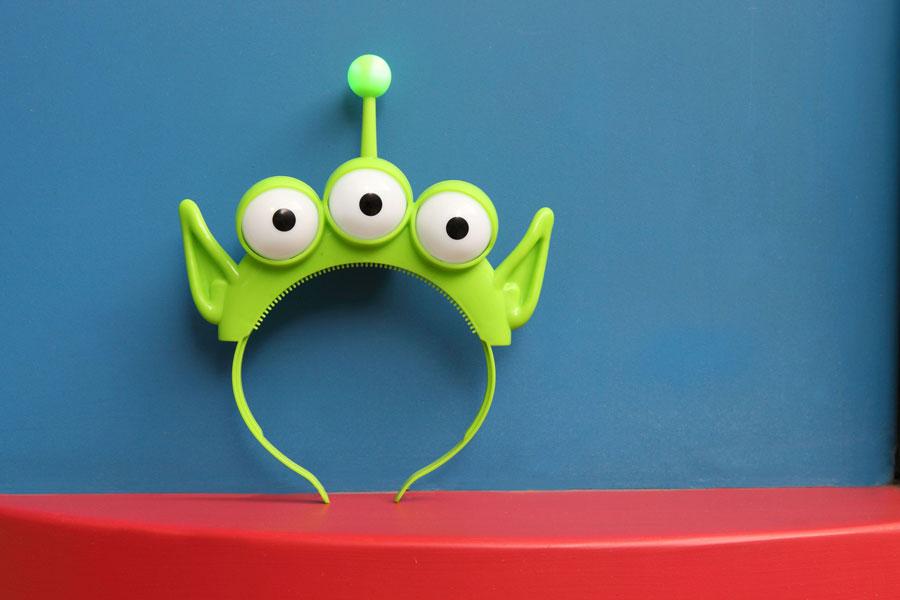Green Alien Headband