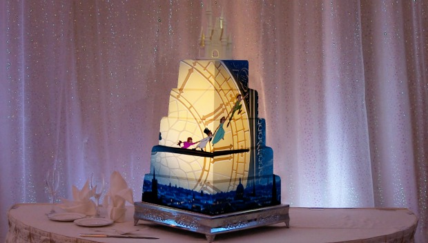 Peter Pan Disney Wedding Cake