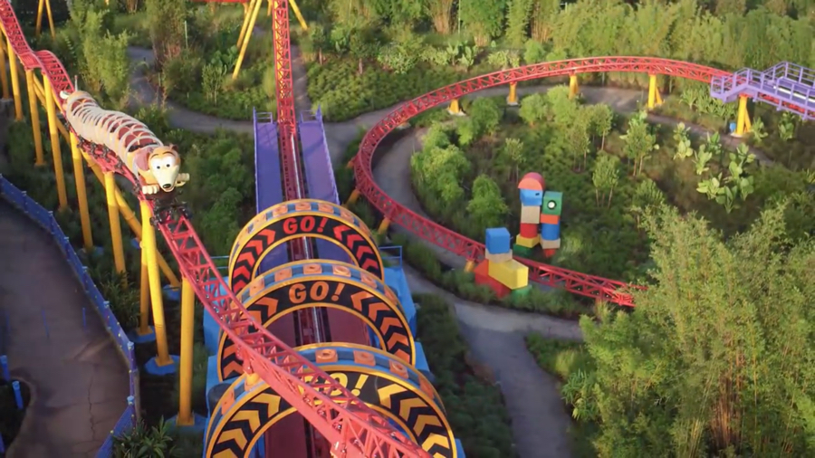 Slinky Dog Dash At Toy Story Land Will Have On Ride