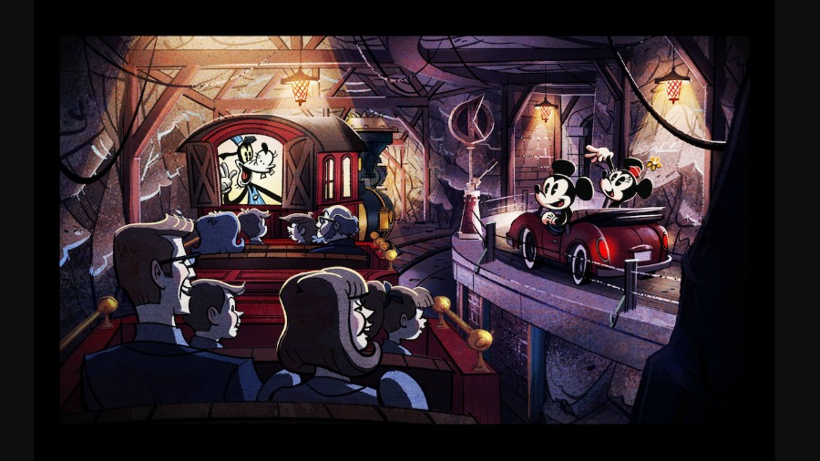 Mickey and Minnie's Runaway Railway Concept Art Official