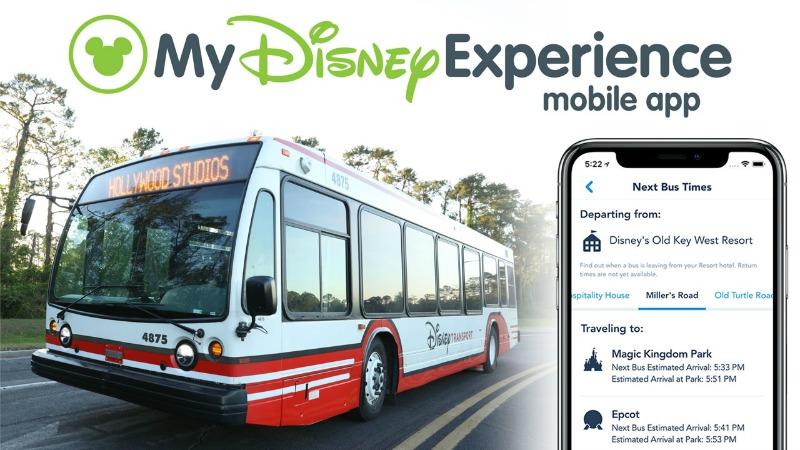 My Disney Experience update bus