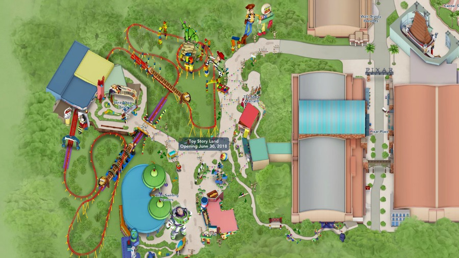 Toy Story Land Digital Map
