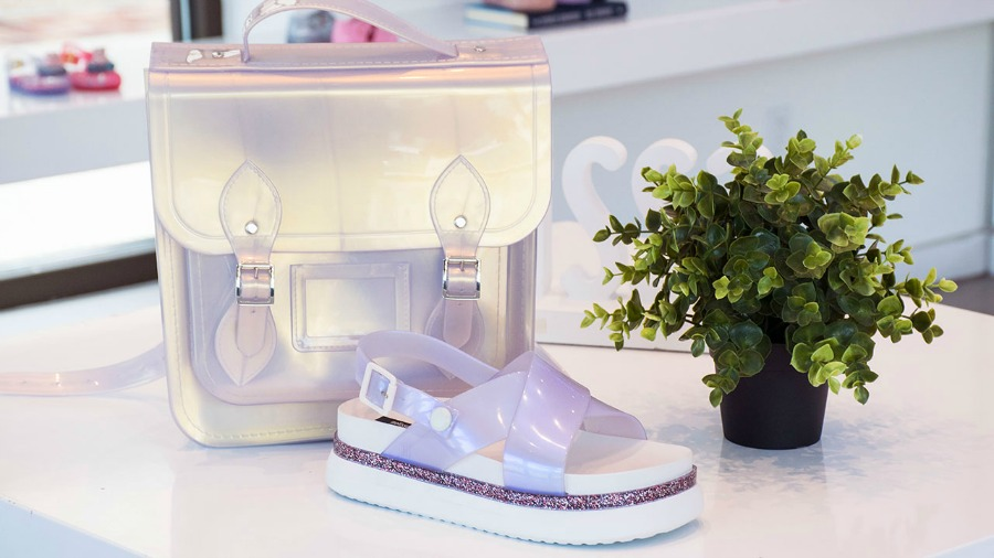 Iridescent Bag Sandals
