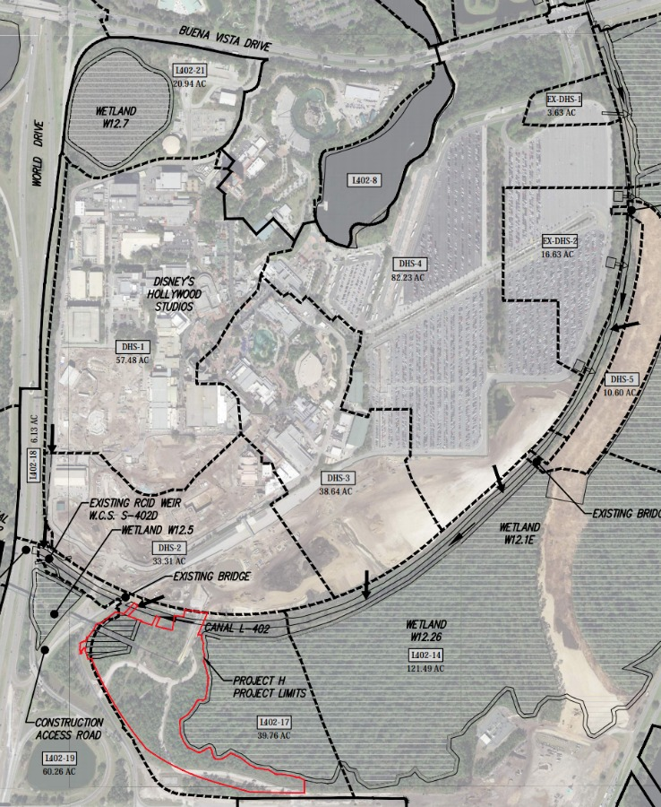 Project H map with DHS
