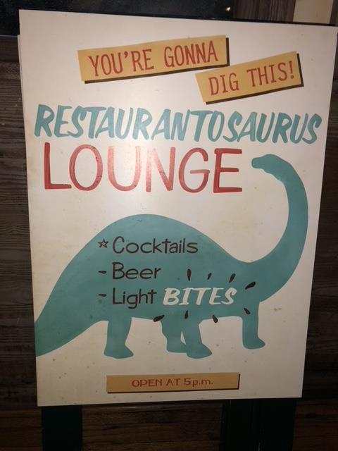 Restaurantosaurus Lounge Sign