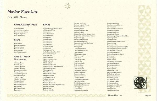 plant list sampling