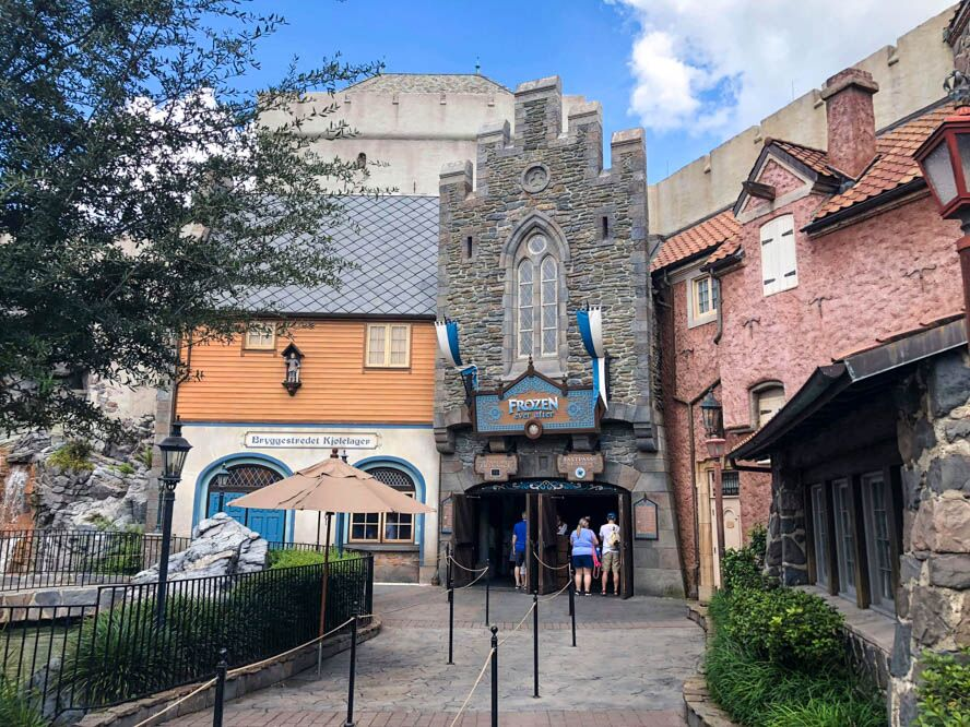 frozen ever after ride at epcot world showcase norway pavilion