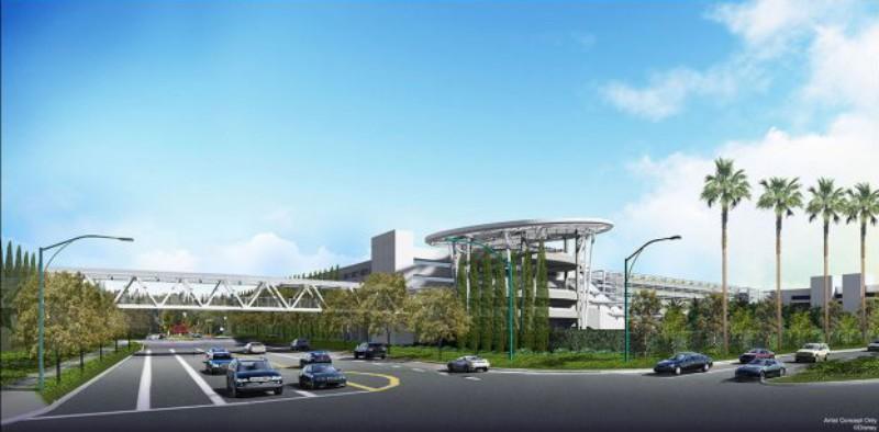 New Parking Garage At Disneyland To Have Pedestrian Bridge
