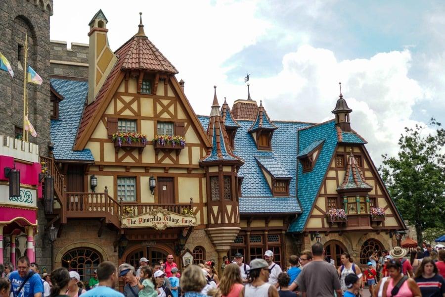 Pinocchio Village Haus Menu Magic Kingdom