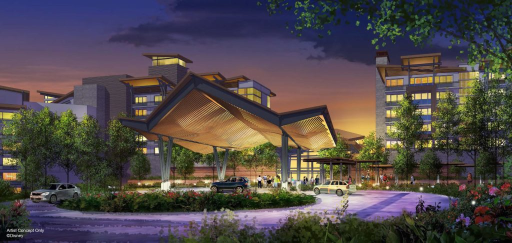 A new nature-inspired, mixed-use Disney resort will welcome families in 2022 along the picturesque shoreline of Bay Lake located between Disney's Wilderness Lodge and Disney's Fort Wilderness Resort & Campground at Walt Disney World Resort.  The deluxe resort, which will be themed to complement its natural surroundings, will include more than 900 hotel rooms and proposed Disney Vacation Club villas spread across a variety of unique accommodation types. (Proposed – Artist Concept Only, © Disney)