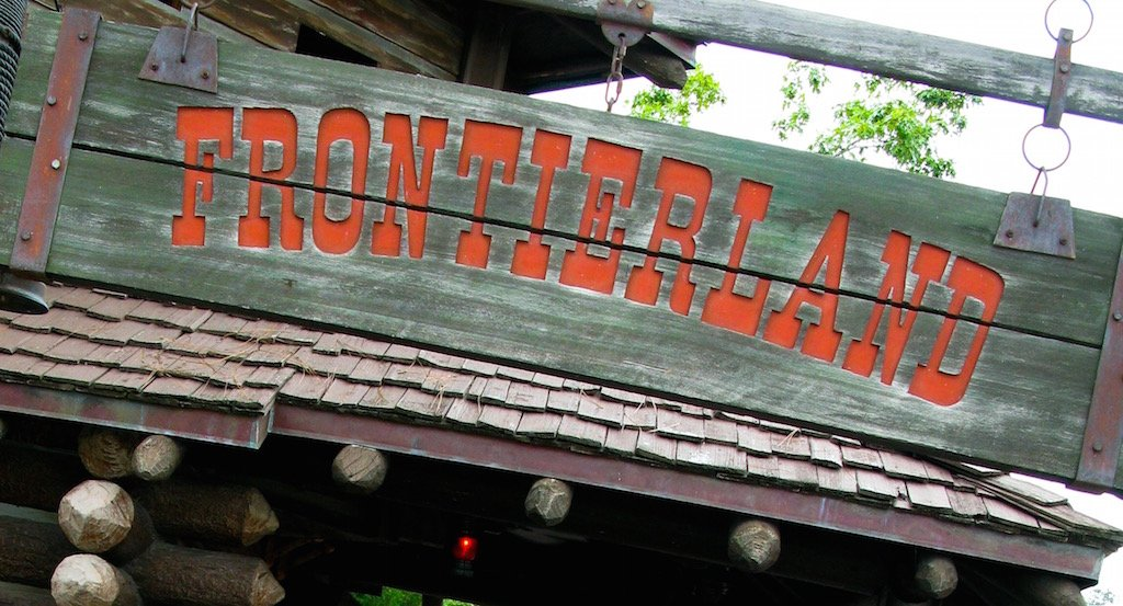 Frontierland sign in Magic Kingdom