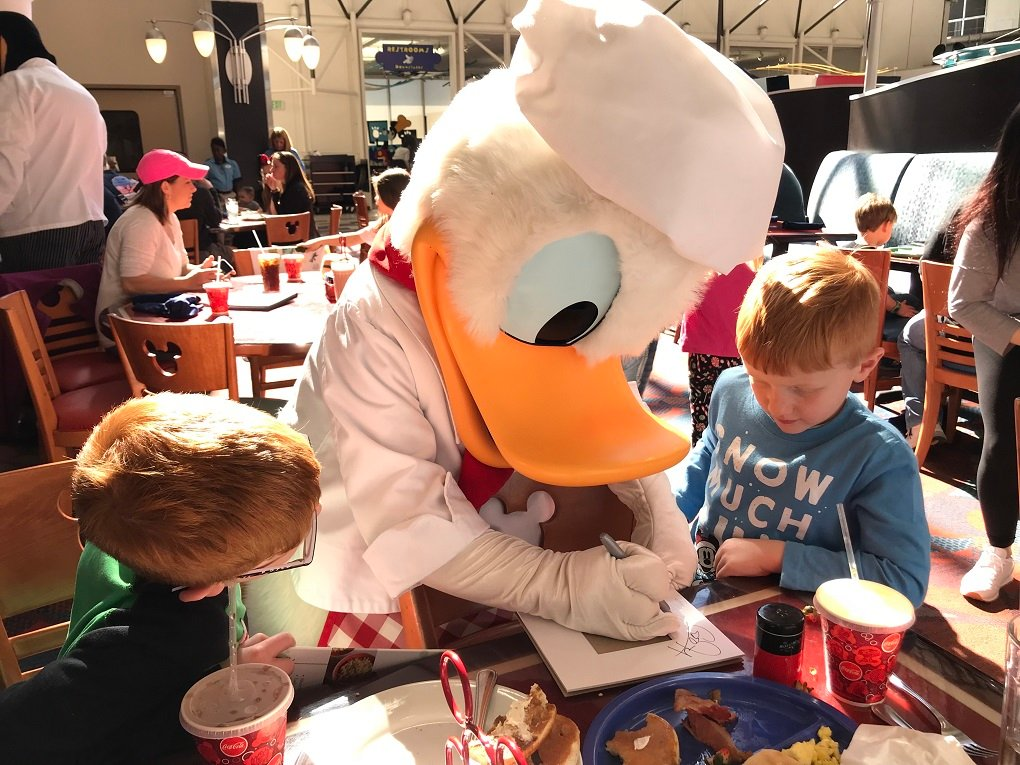 Donald at Chef Mickeys