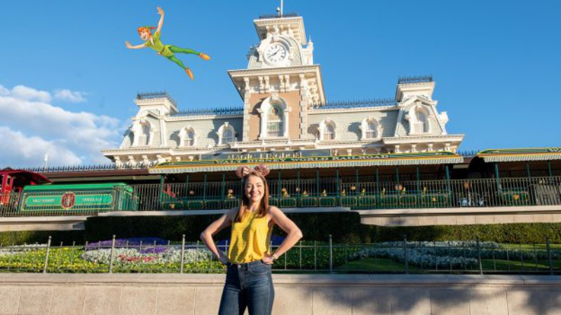 Magic Shot At Magic Kingdom Disneyland Features Peter Pan