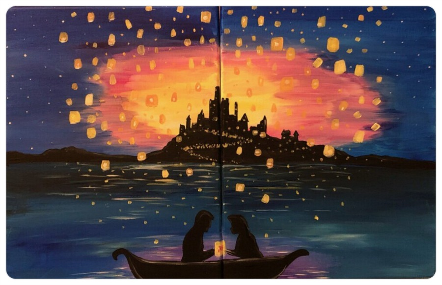 7c7f75af887 Canvas Painting on the Board  Offering Available at Disney s ...