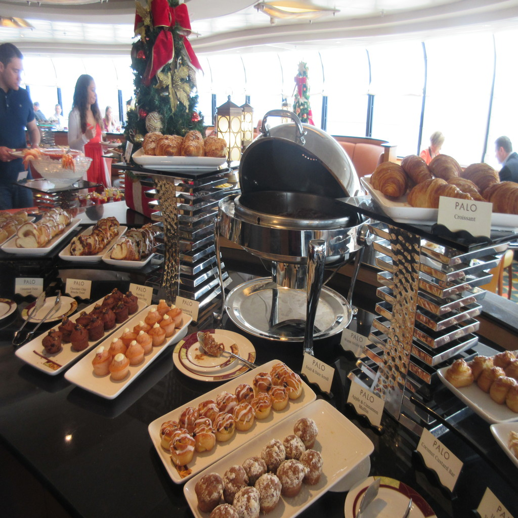 One of several food stations at the brunch.